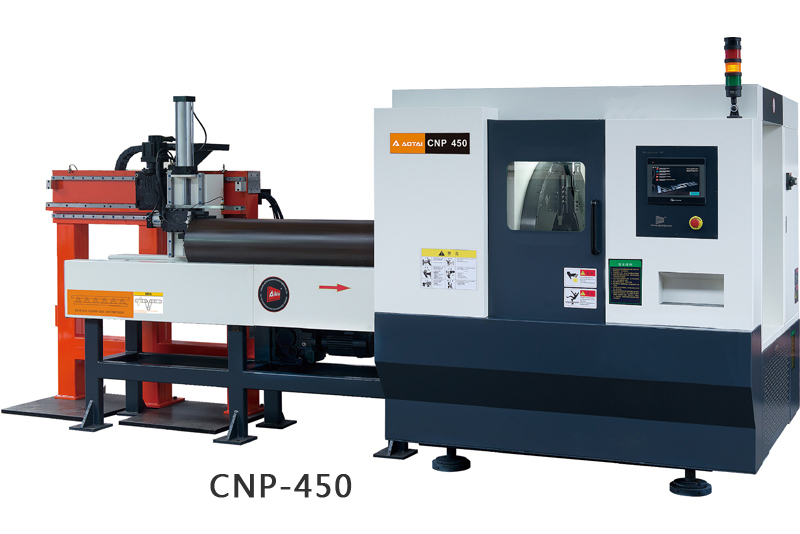 CNP HIGH SPEED PIPE CUTTING AND BEVELING MACHINE
